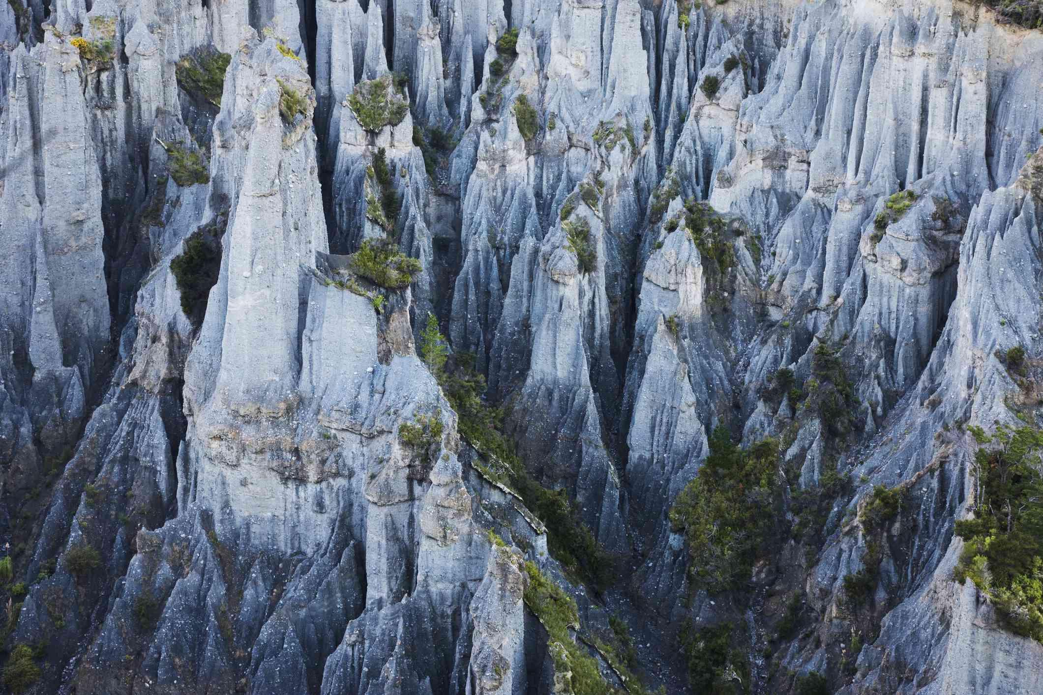 rocks of Putangirua Pinnacles