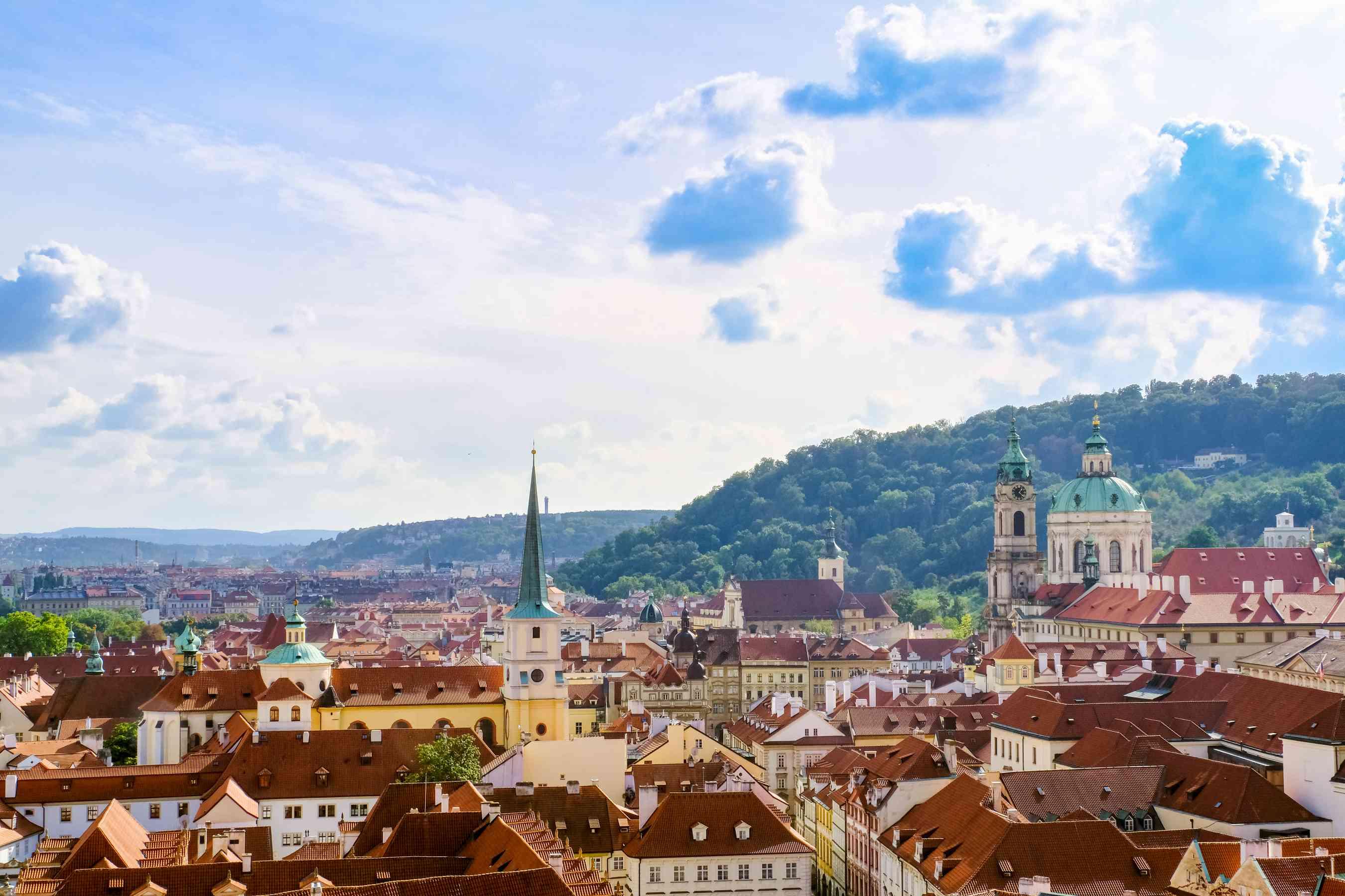 Vista de los tejados en Praga