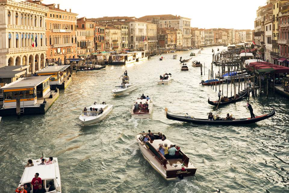 Grand Canal viewed from Rialto Bridge