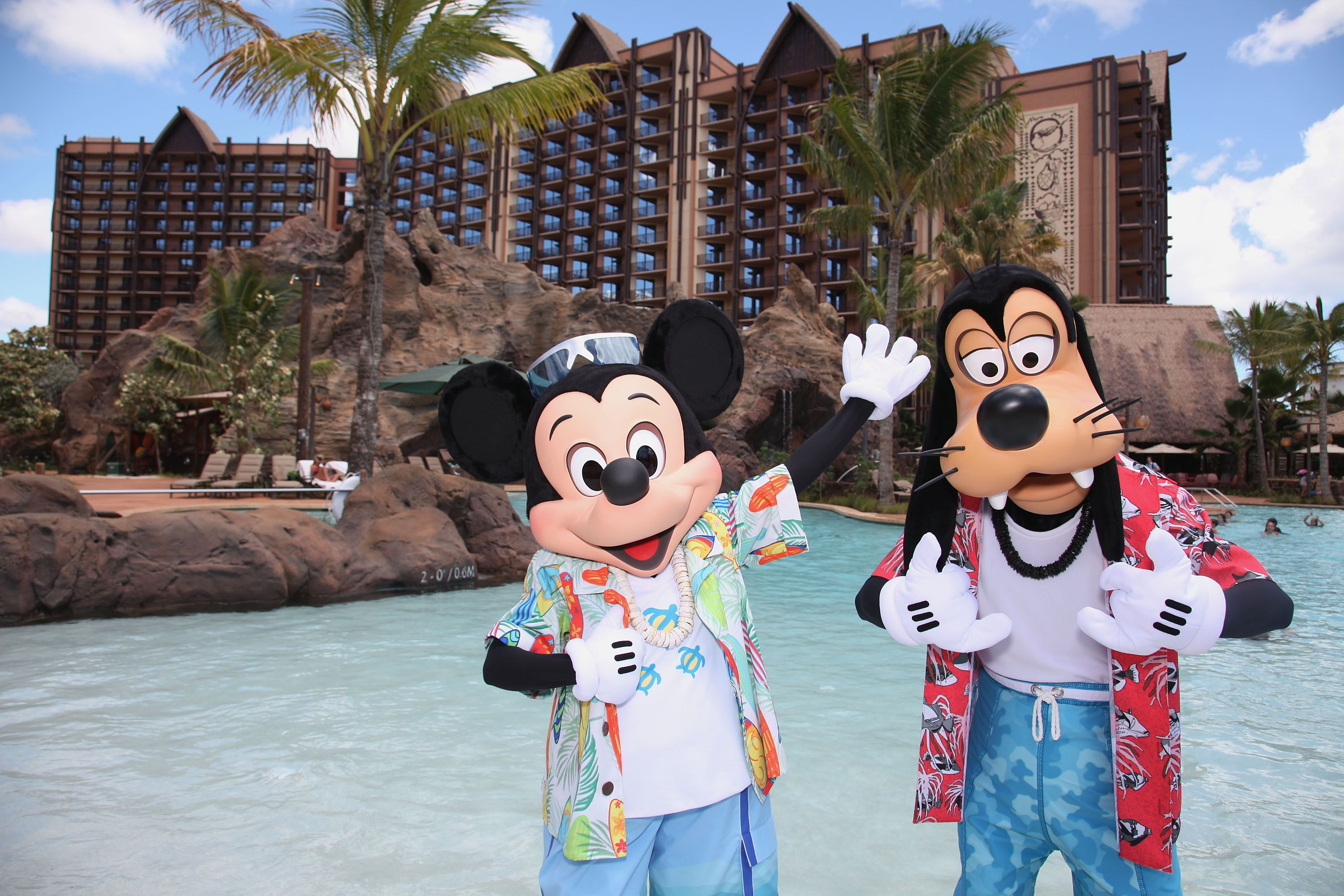 Mickey Mouse and Goofy at Aulani