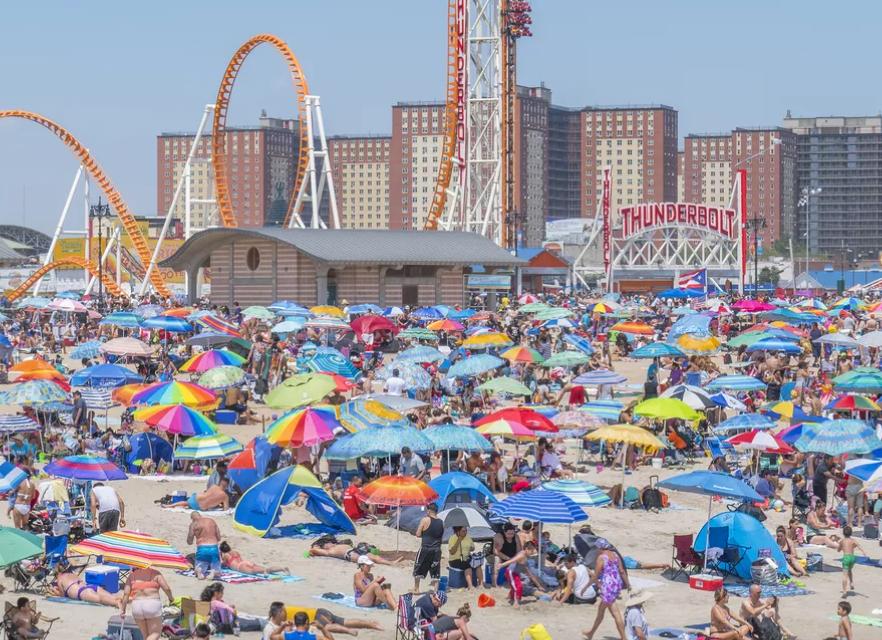 Coney Island durante el verano