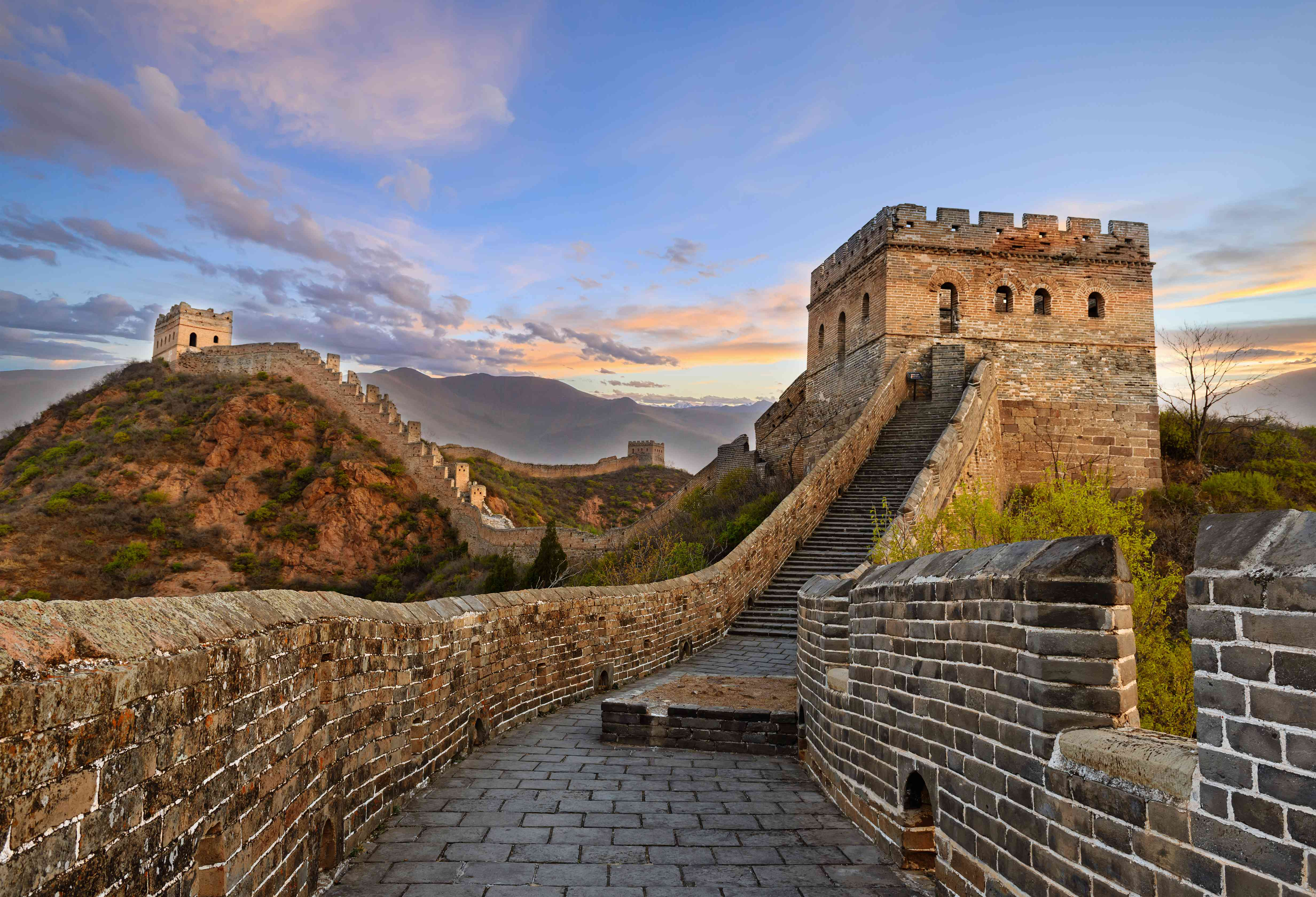 Great Wall of China in August