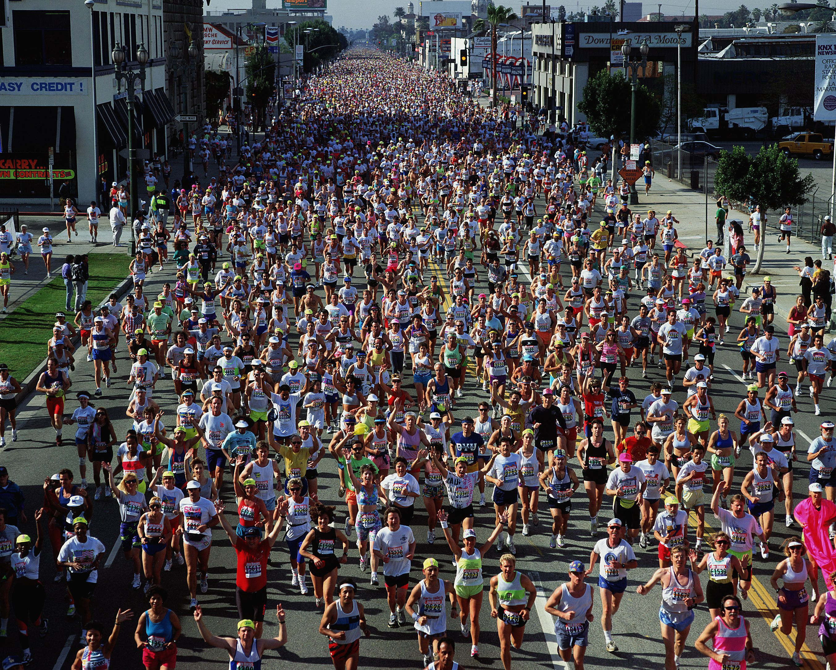Runners in the Los Angeles Marathon