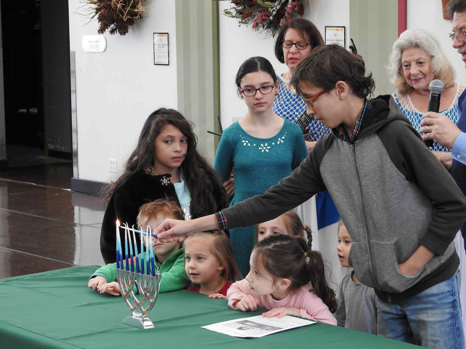 Chanukah celebration at the Missouri Botanical Garden