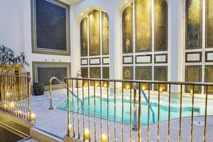 The co-ed mineral pool at the spa at the Montage Beverly Hills