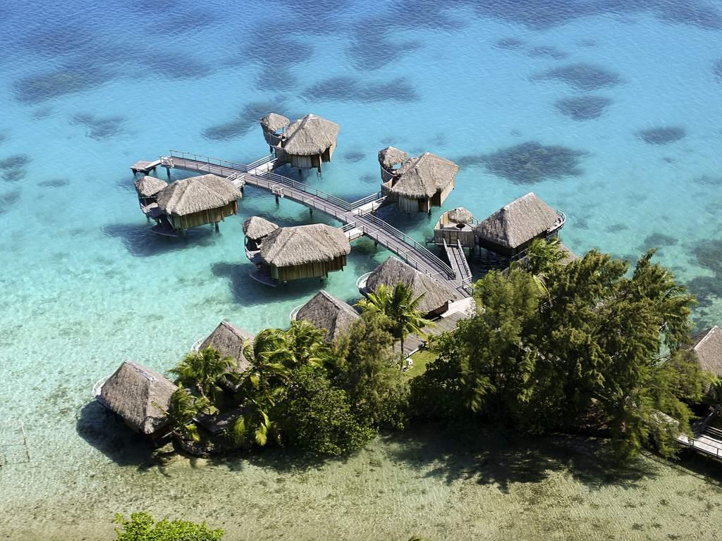 Aerial view of the Sofitel Bora Bora Marara Beach Resort