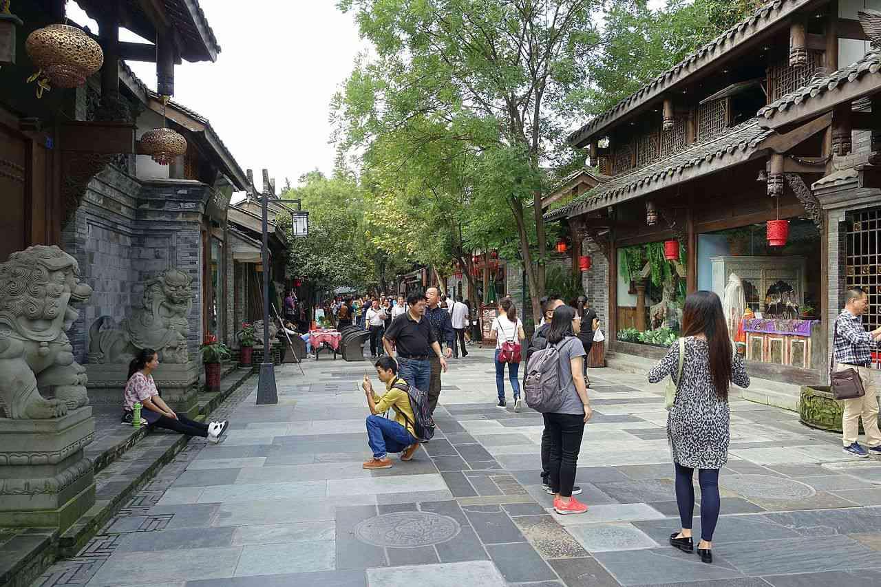 Kuanzhai Alleys in Chengdu.