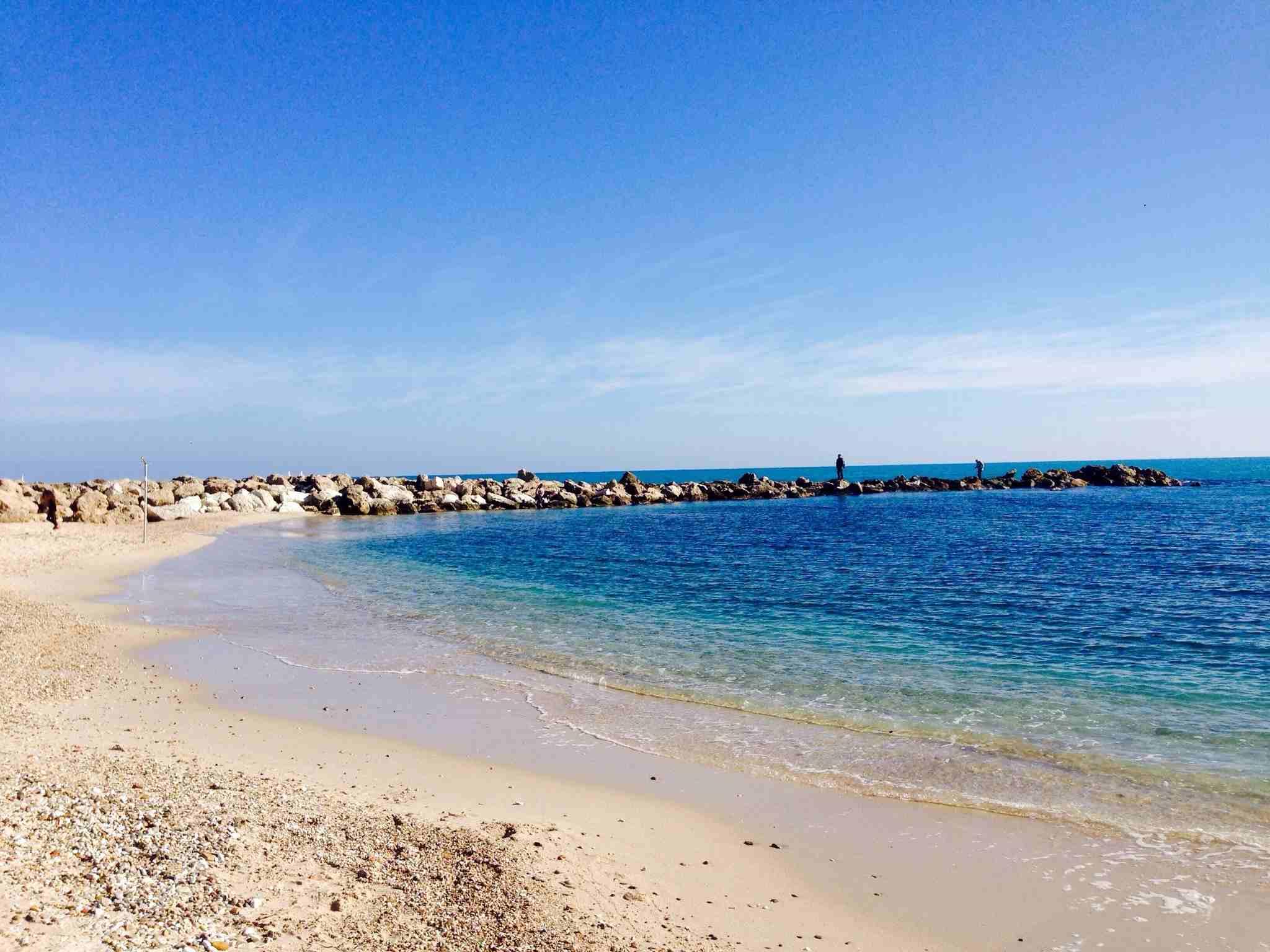 Beach in Cap d'Antibes, France