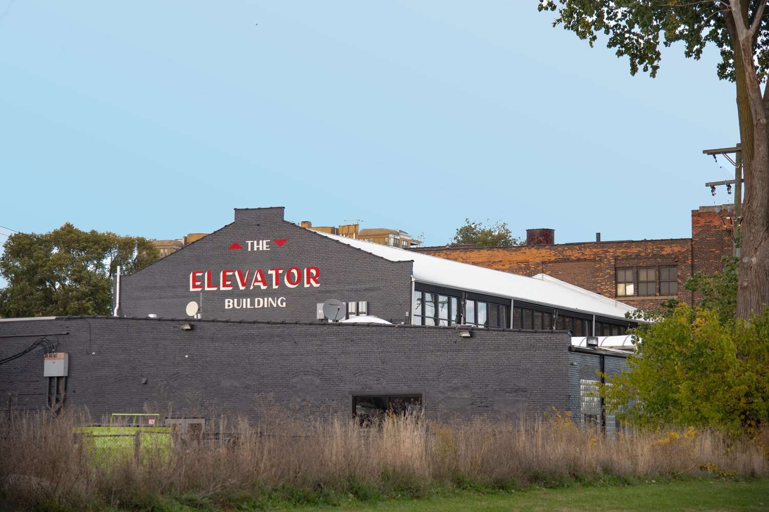 Exterior of the Elevator Building, a converted warehouse