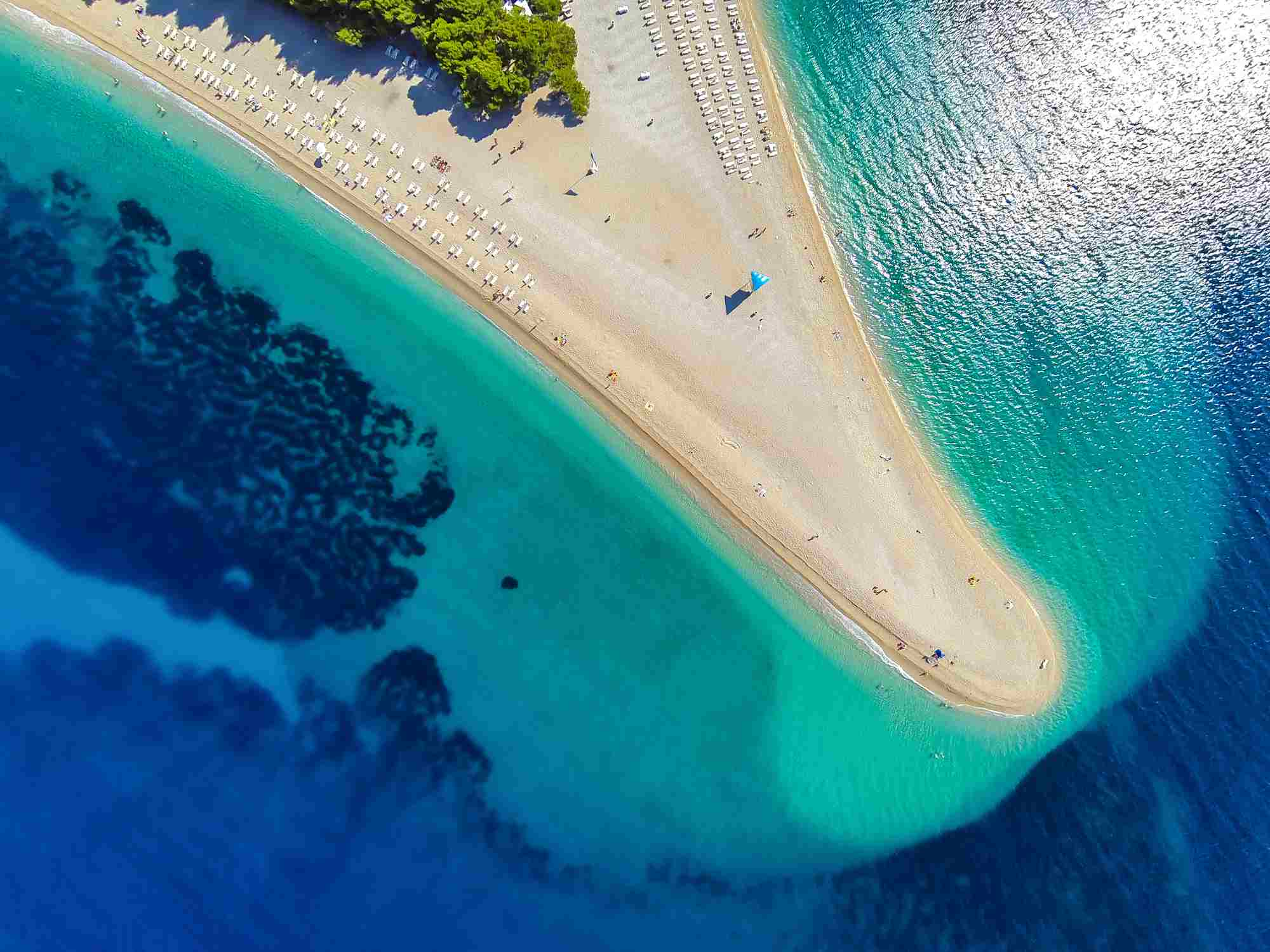 Zlatni rat beach, Bol, Brac island, Dalmatia, Croatia