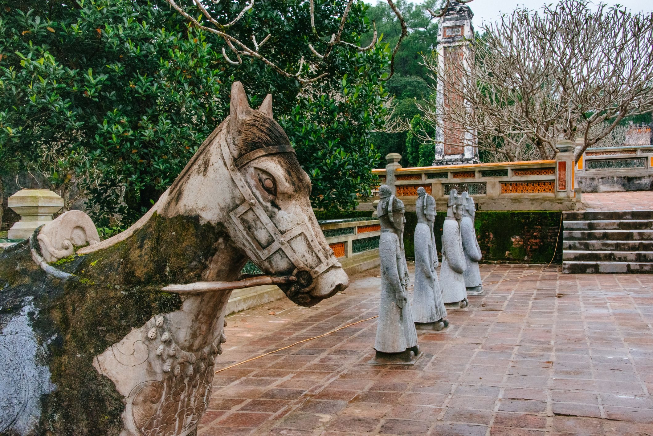 Sculptures at Tu Duc tomb necropolis, Hue, Vietnam