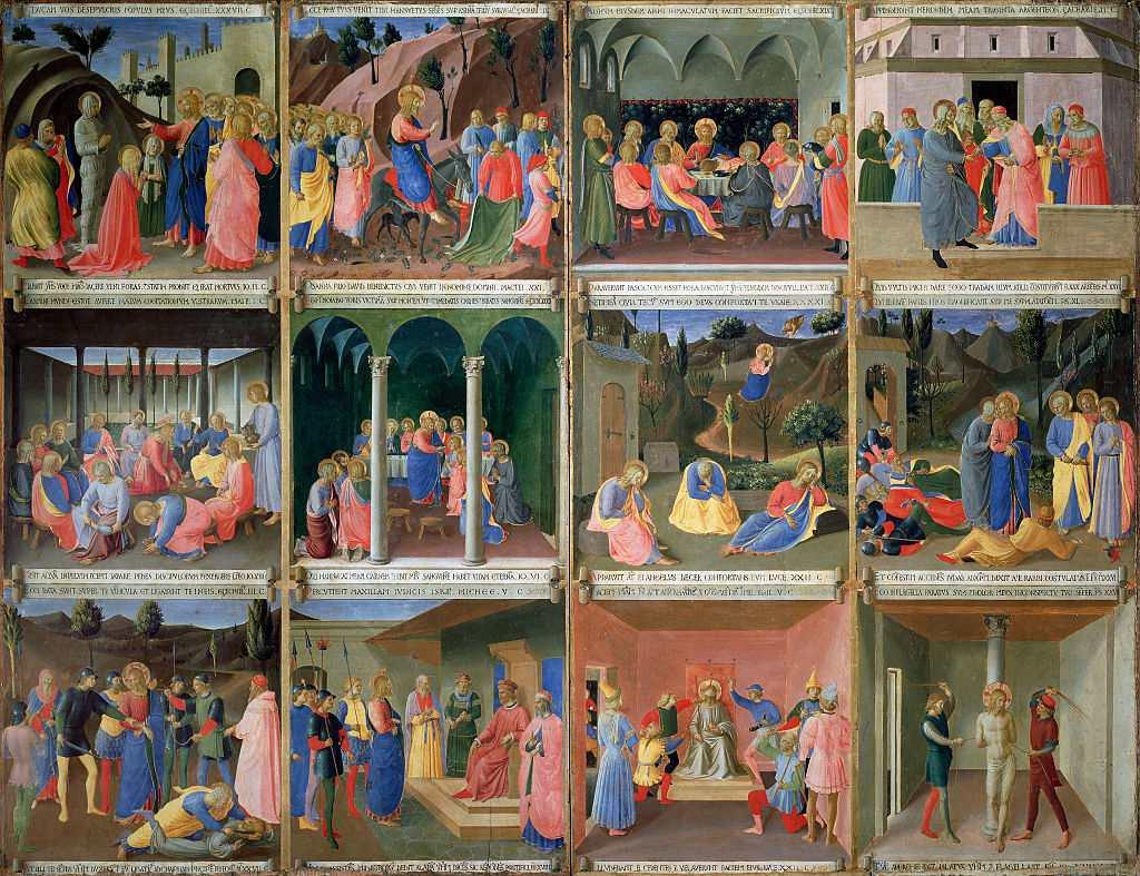 Scenes from the Life of Christ, panel three from the Silver Treasury of Santissima Annunziata, c.1450-53 (tempera on panel) by Guido di Pietro (Fra Giovanni da Fiesole) (Fra Angelico il Beato) (1400-1455) Museo di San Marco dell'Angelico, Florence, Italy.
