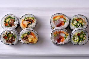 Cut sushi handrolls from Nobu in Washington, DC