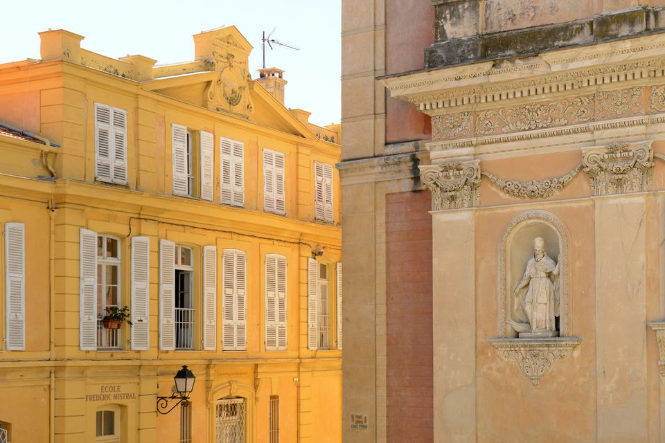 France, Cote Dazur, Menton, Ornate buildings