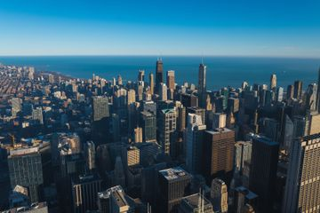 Aerial view of the Chicago skyline