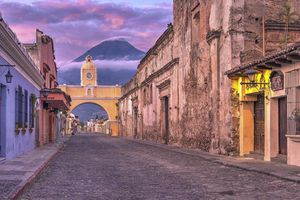 Santa Catalina Arch, Antigua, Guatemala, at sunrise