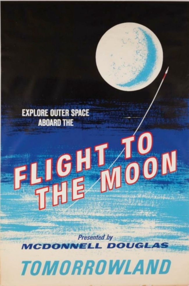 Vintage Disney Posters, Flight to the Moon