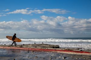 El Nino Storms Bring Massive Waves to California Coast