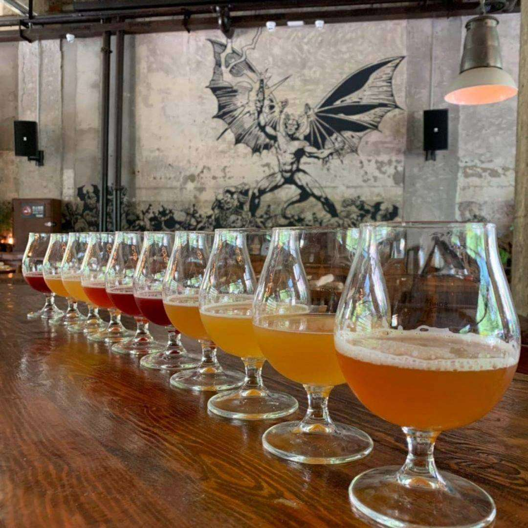 A line of flight of beers