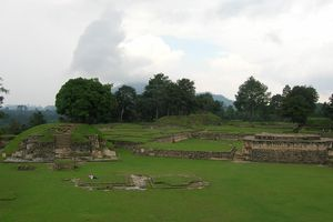 Clouds over Iximche