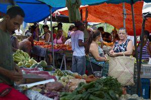 Brazil, Lencois, market