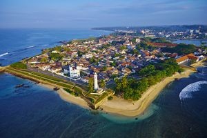 Sri Lanka, Galle viewed from afar