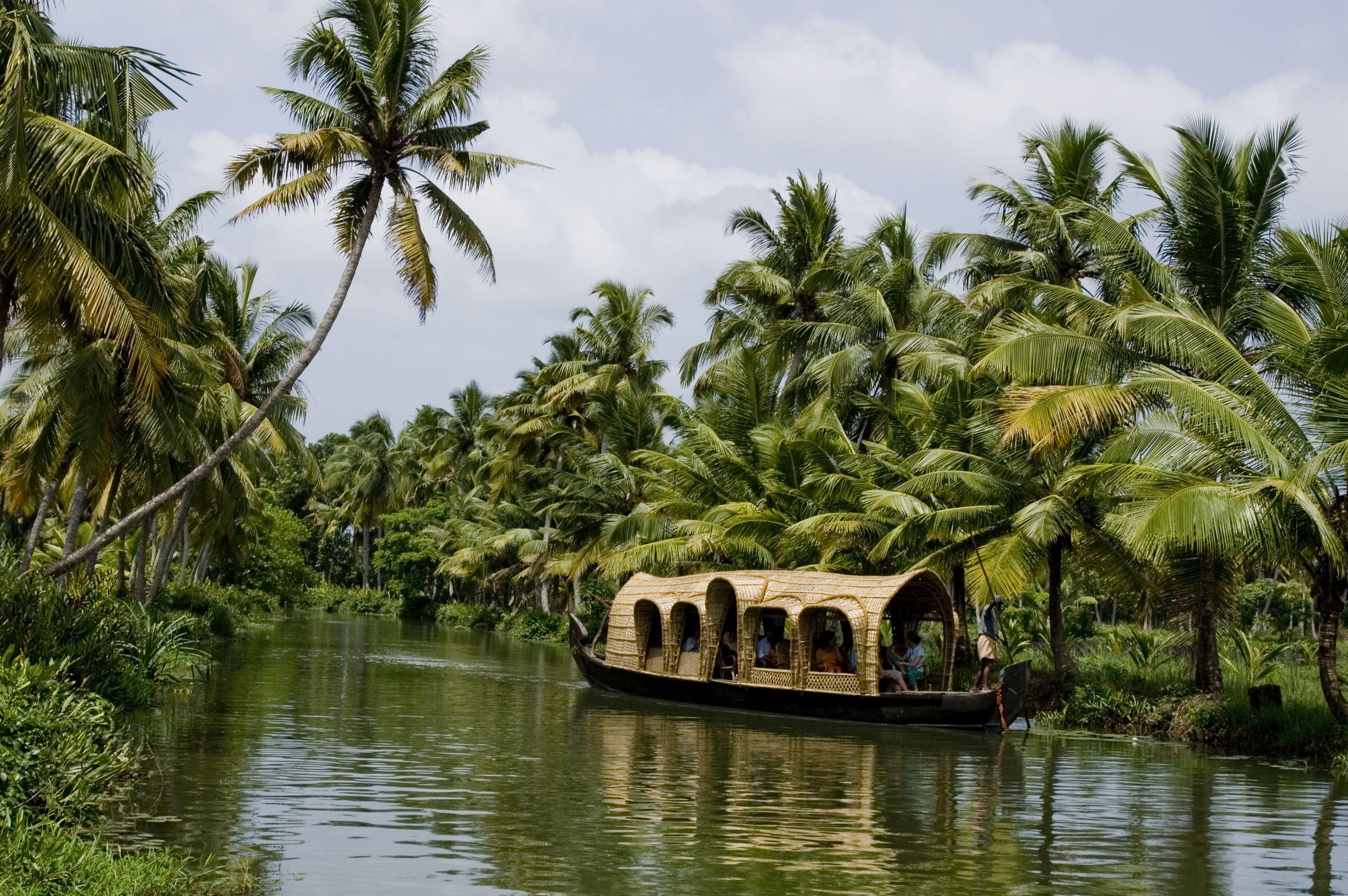 Houseboat in Kottayam, Kerala backwaters