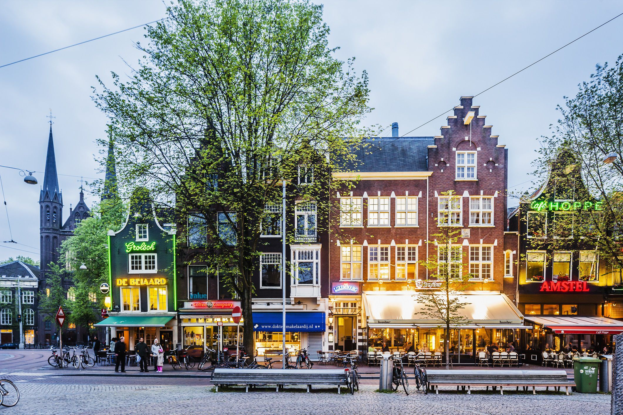 View of Spui square
