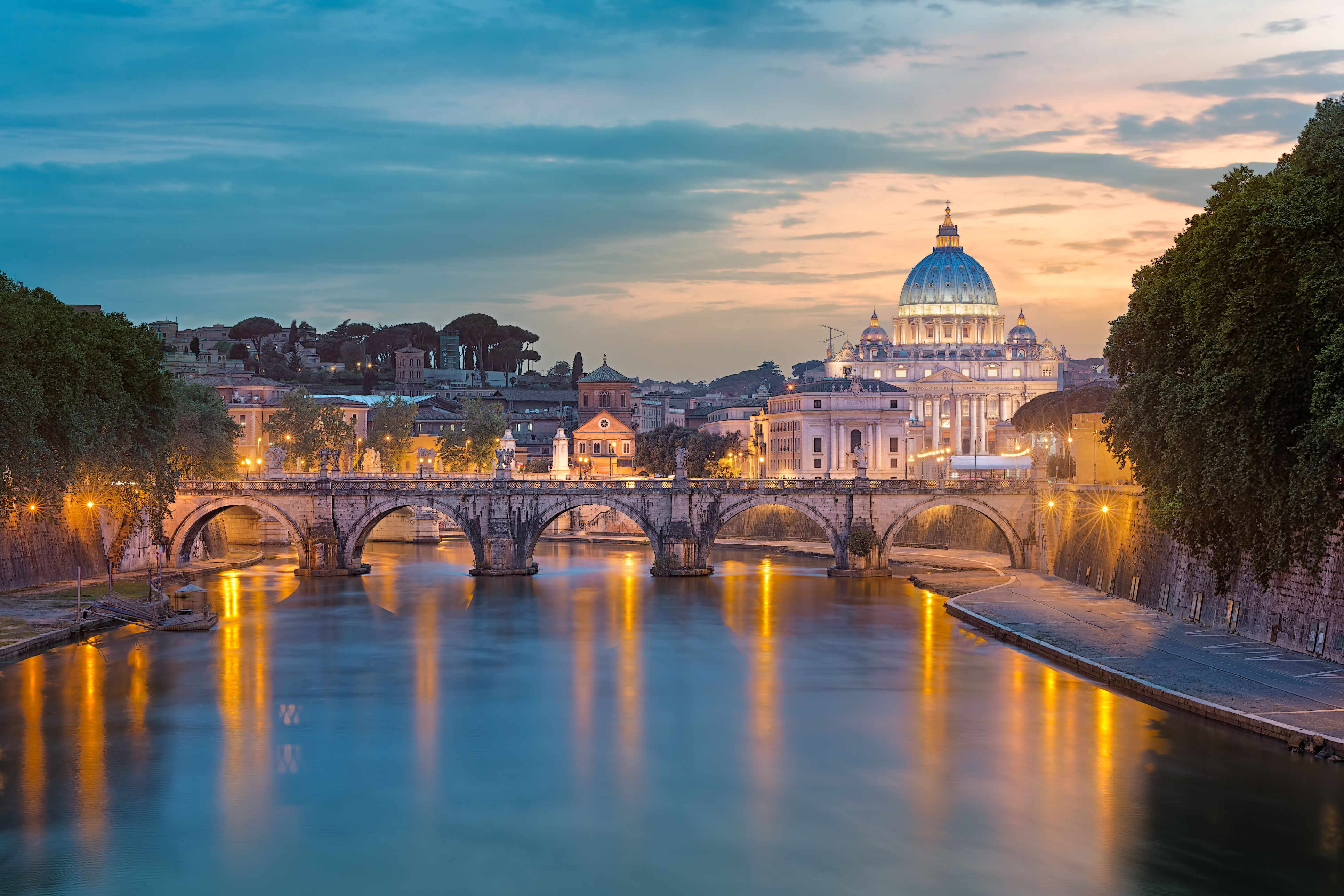 The top 10 cities you should visit in italy italy rome st peters basilica at sunset altavistaventures Image collections