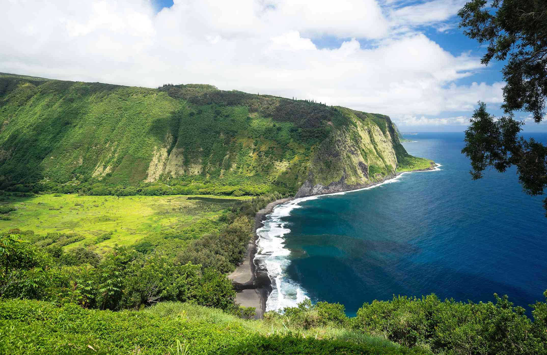 Waipio Valley Lookout view on the Big Island
