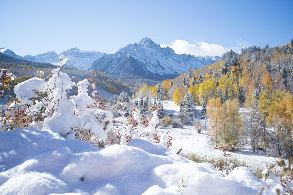 winter mount Sneffles, Colorado