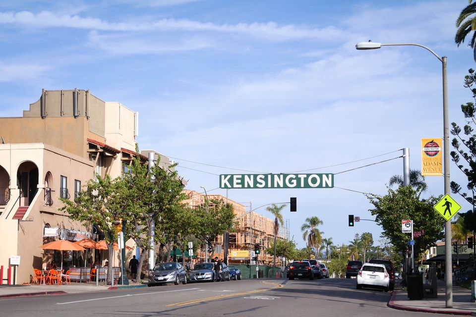Kensington sign in San Diego
