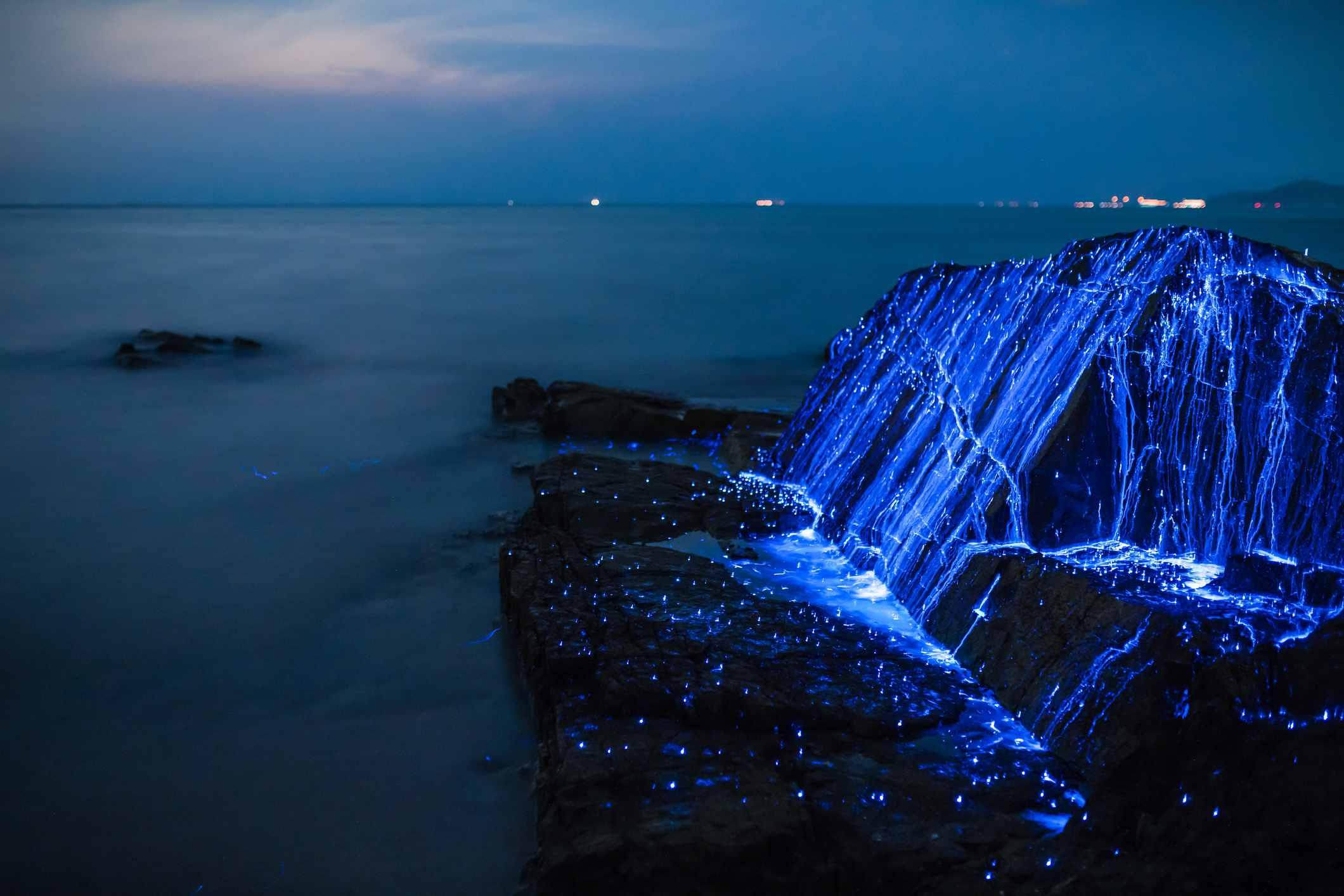 Okayama, Japan Glowing Beach