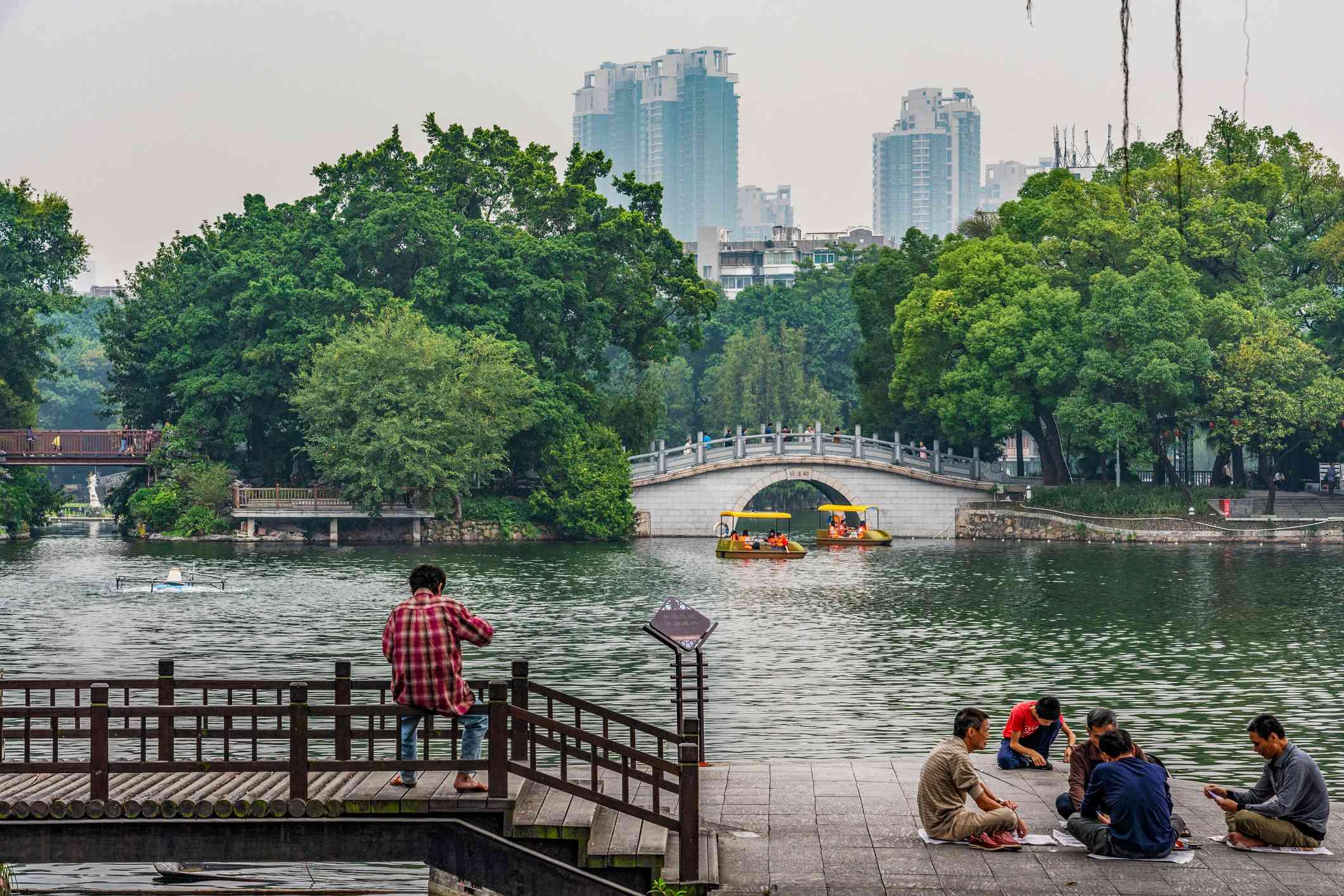 View of Liwan Lake Park