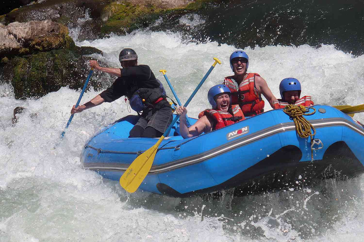 Rafting the Tuichi River in Bolivia