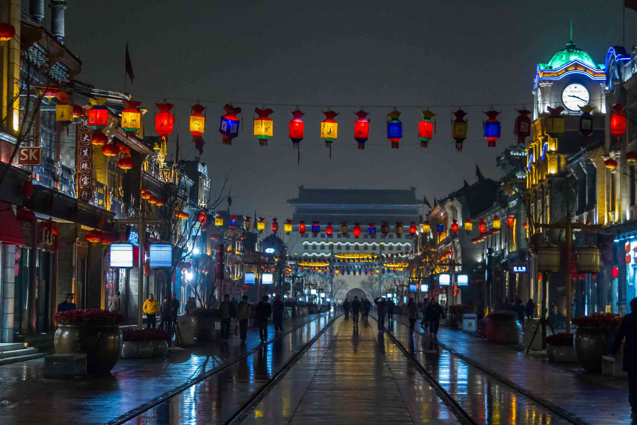 Qianmen Pedestrian Street at Night