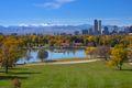 Denver, Colorado overlooking the Rocky Mountains