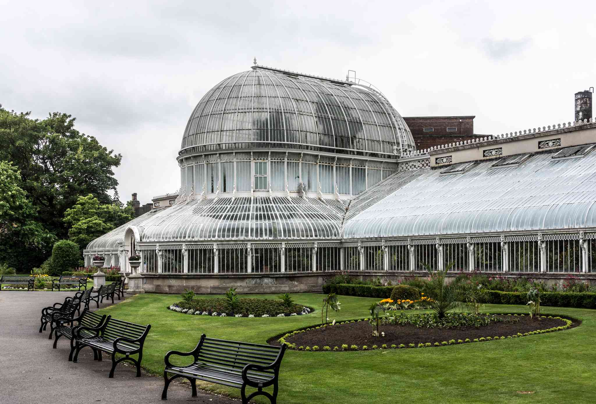 The Victorian glasshouses at the Belfast Botanic Gardens are home to rare plants