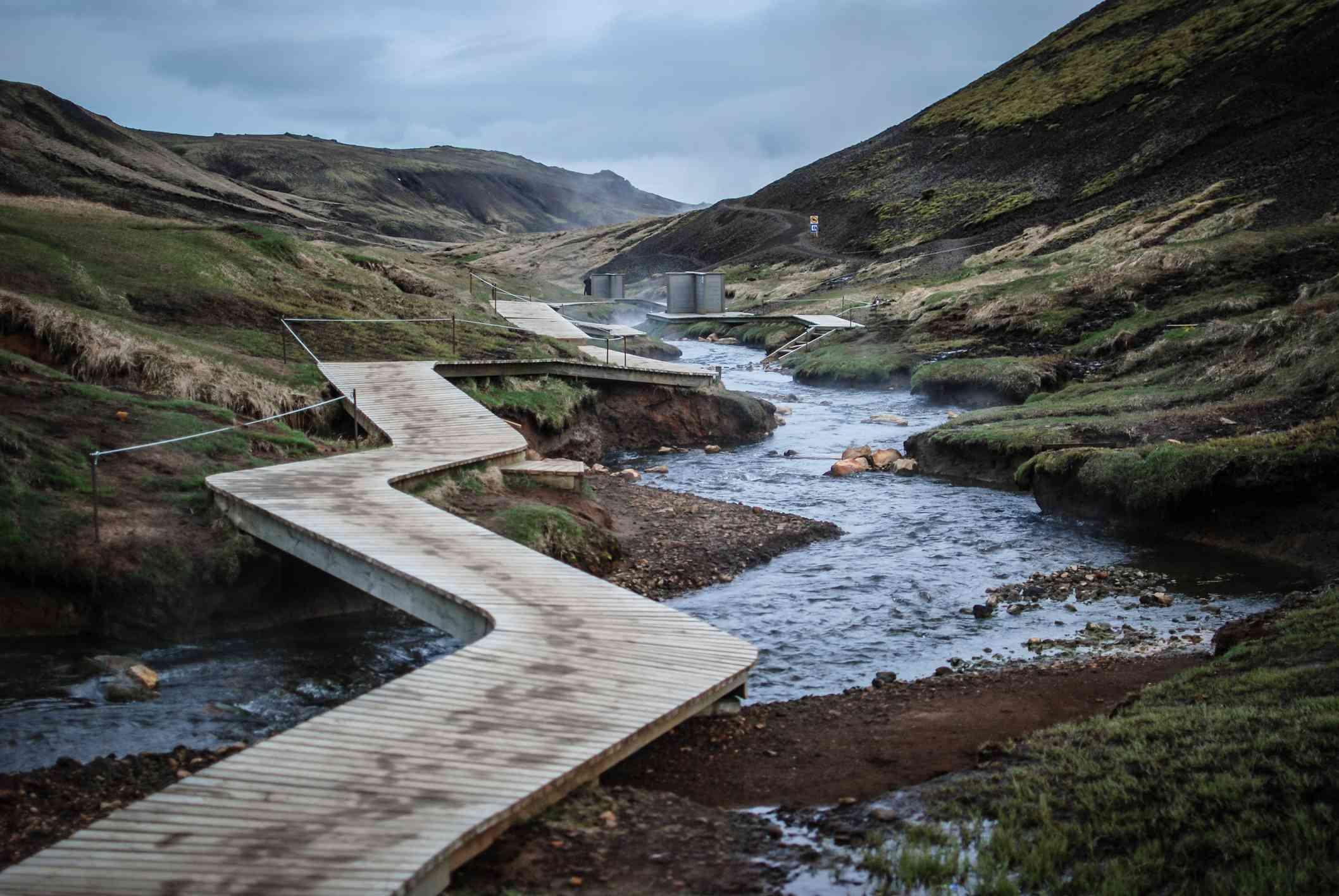 Reykjadalur Hot Spring River in Iceland