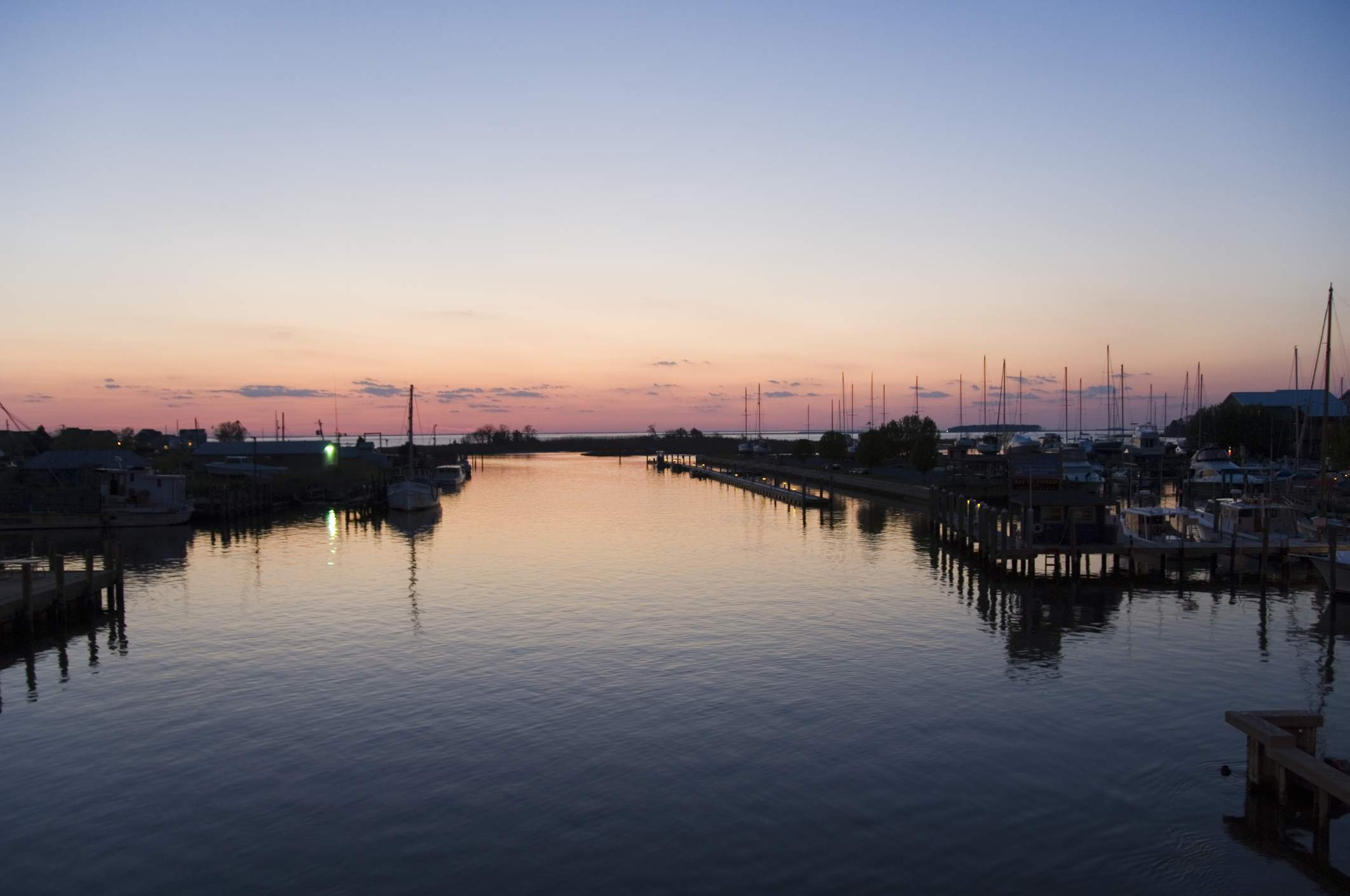 Knapps Narrows, Tilghman Island, Talbot County, Chesapeake Bay area, Maryland, United States of America, North America
