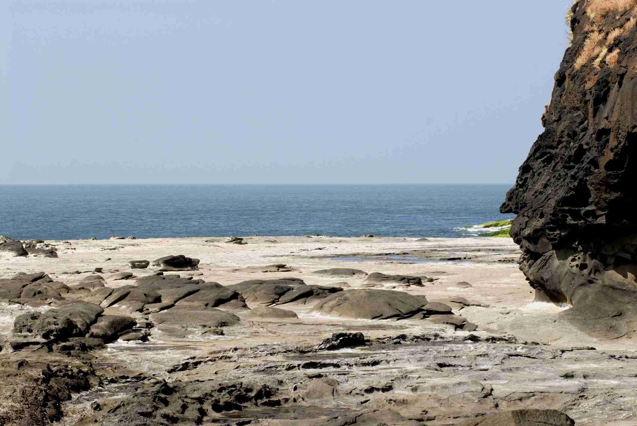 Arabian Sea with Black Rocks Harihareshwar Raigad Maharashtra