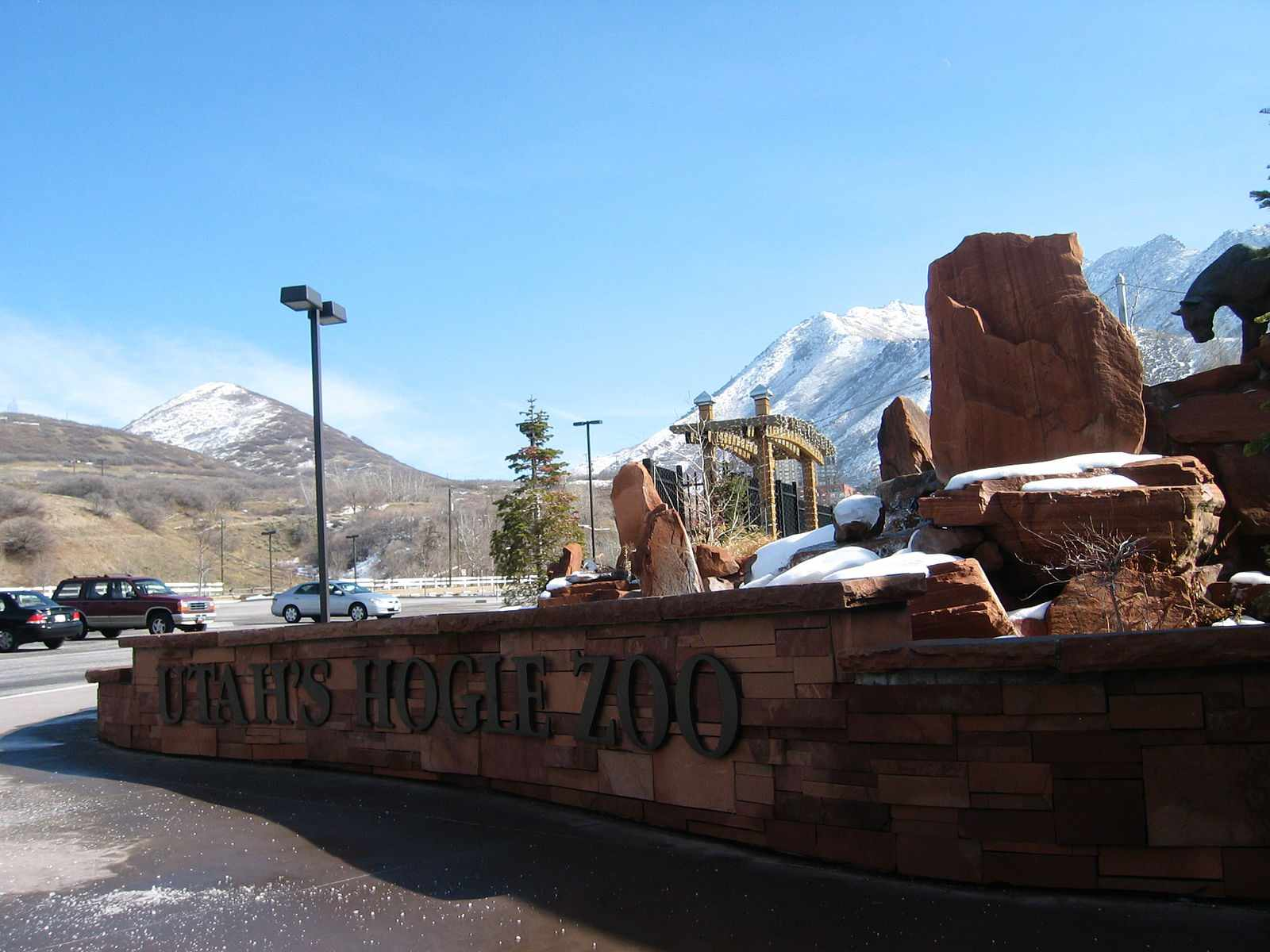 Entrance to Hogle Zoo in Salt Lake City
