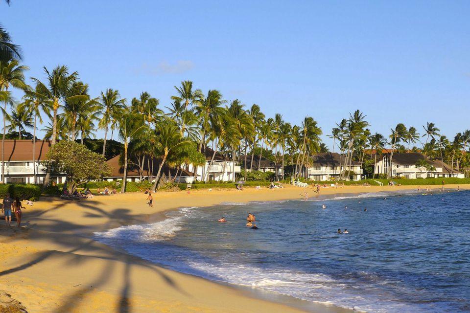 Poipu Beach on the South Coast of Kauai
