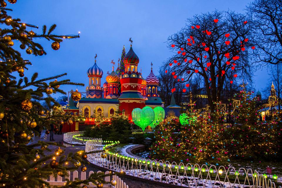 Copenhagen Tivoli Gardens at Christmas