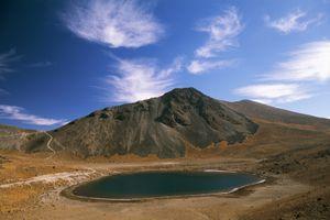 Lake in Nevado de Toluca Volcano