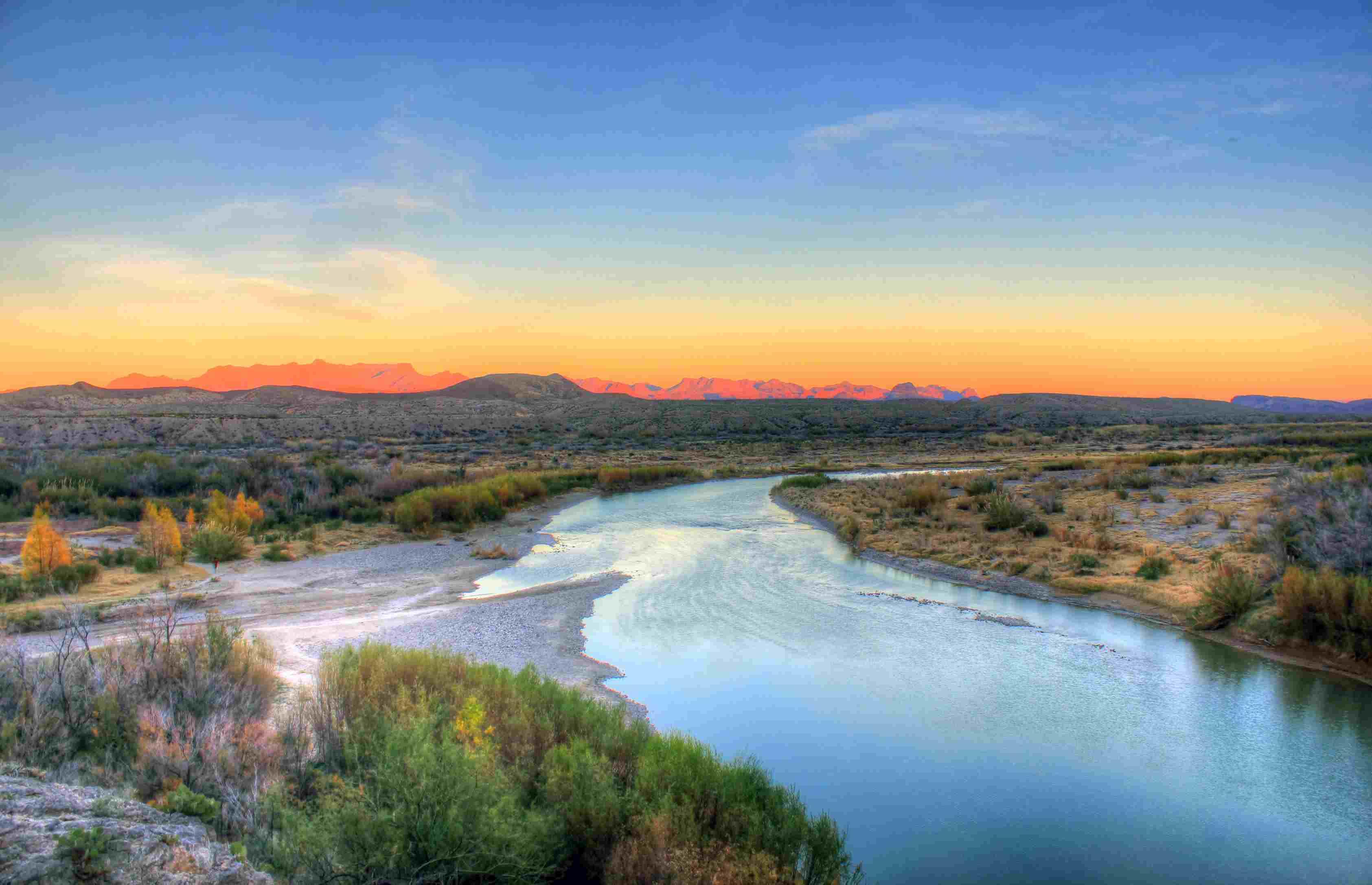Río Grande dentro del Parque Nacional Big Bend