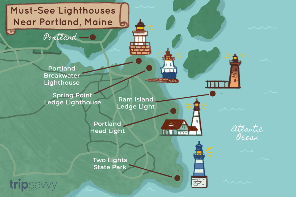 Must-see lighthouses near Portland, Maine