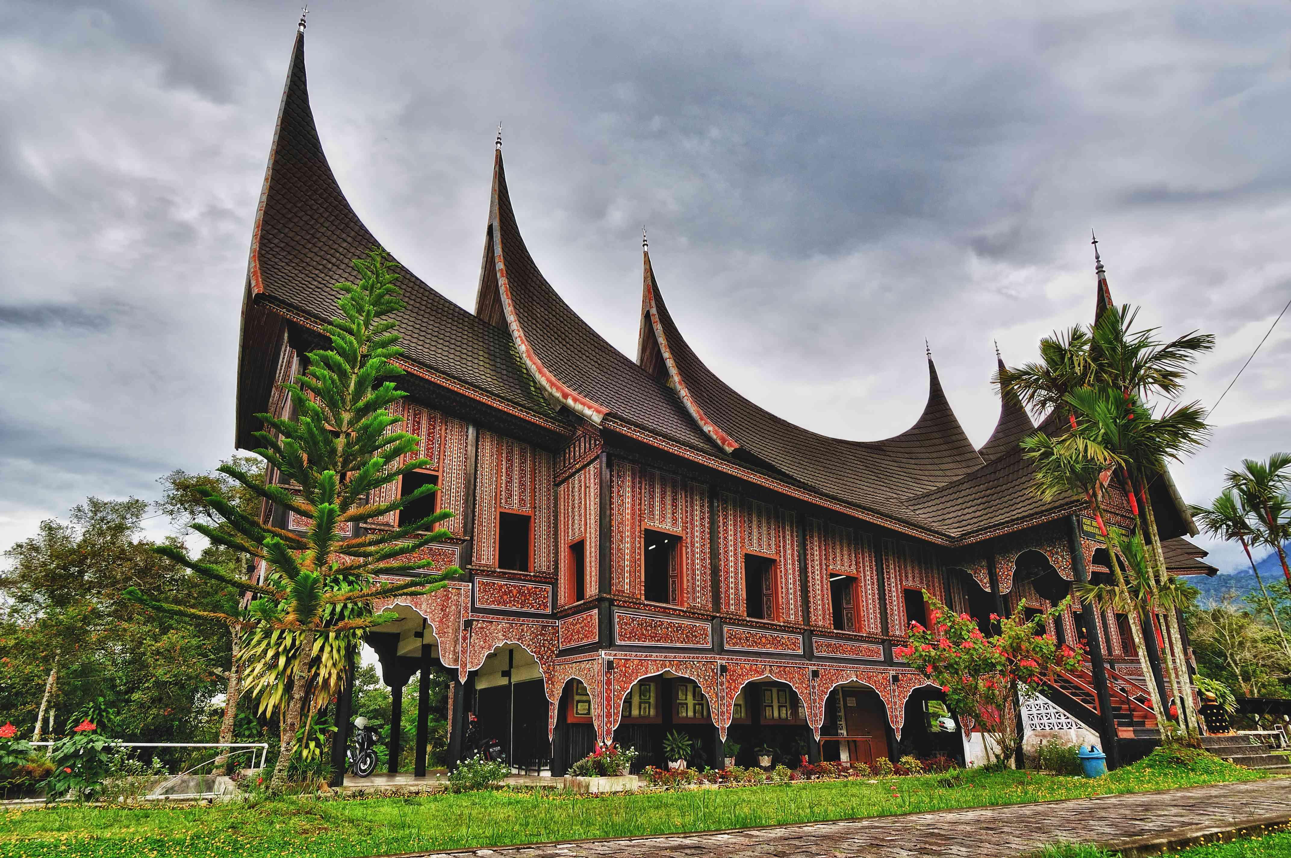 Traditional house in Padang, Sumatra