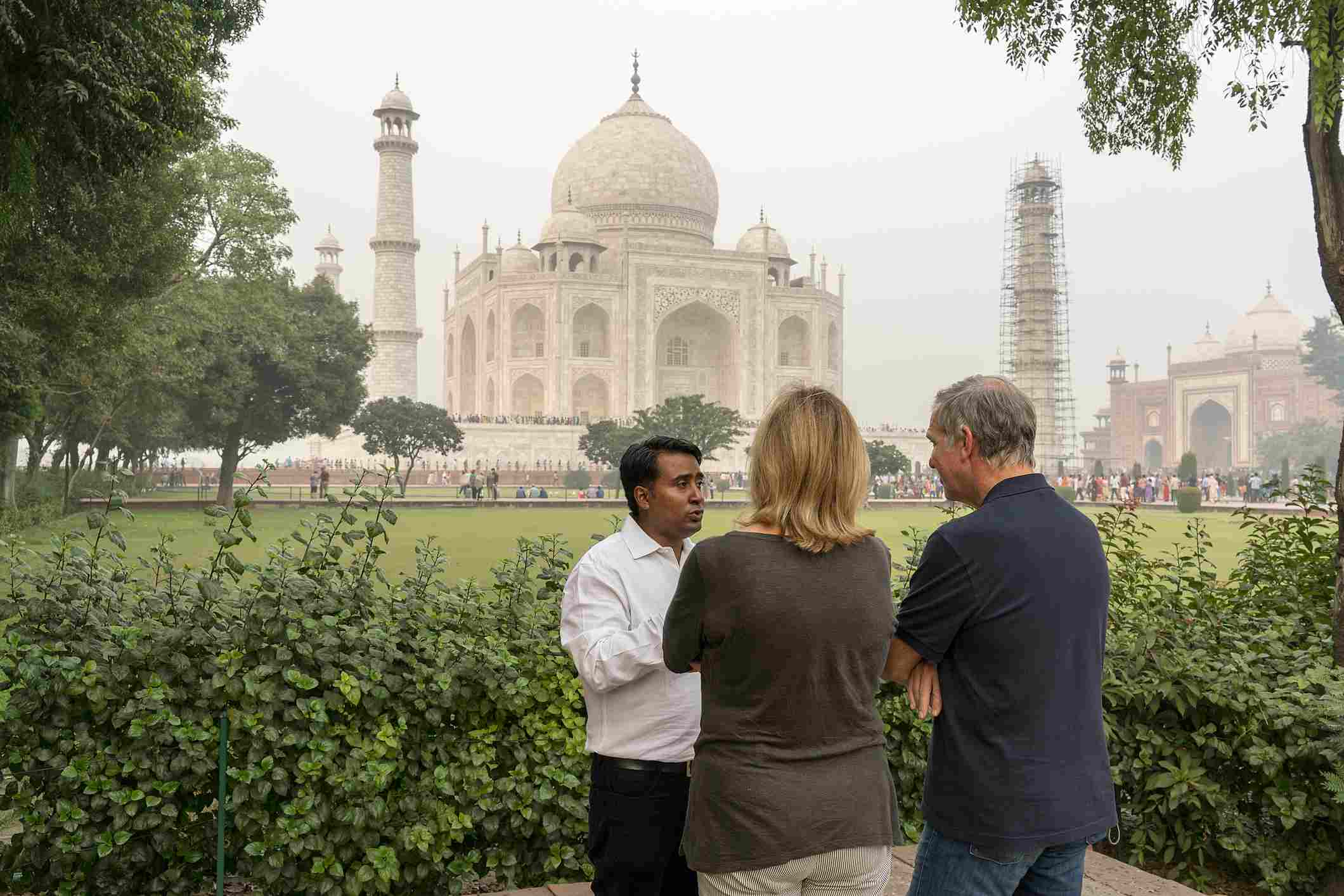 Tourists in Agra.