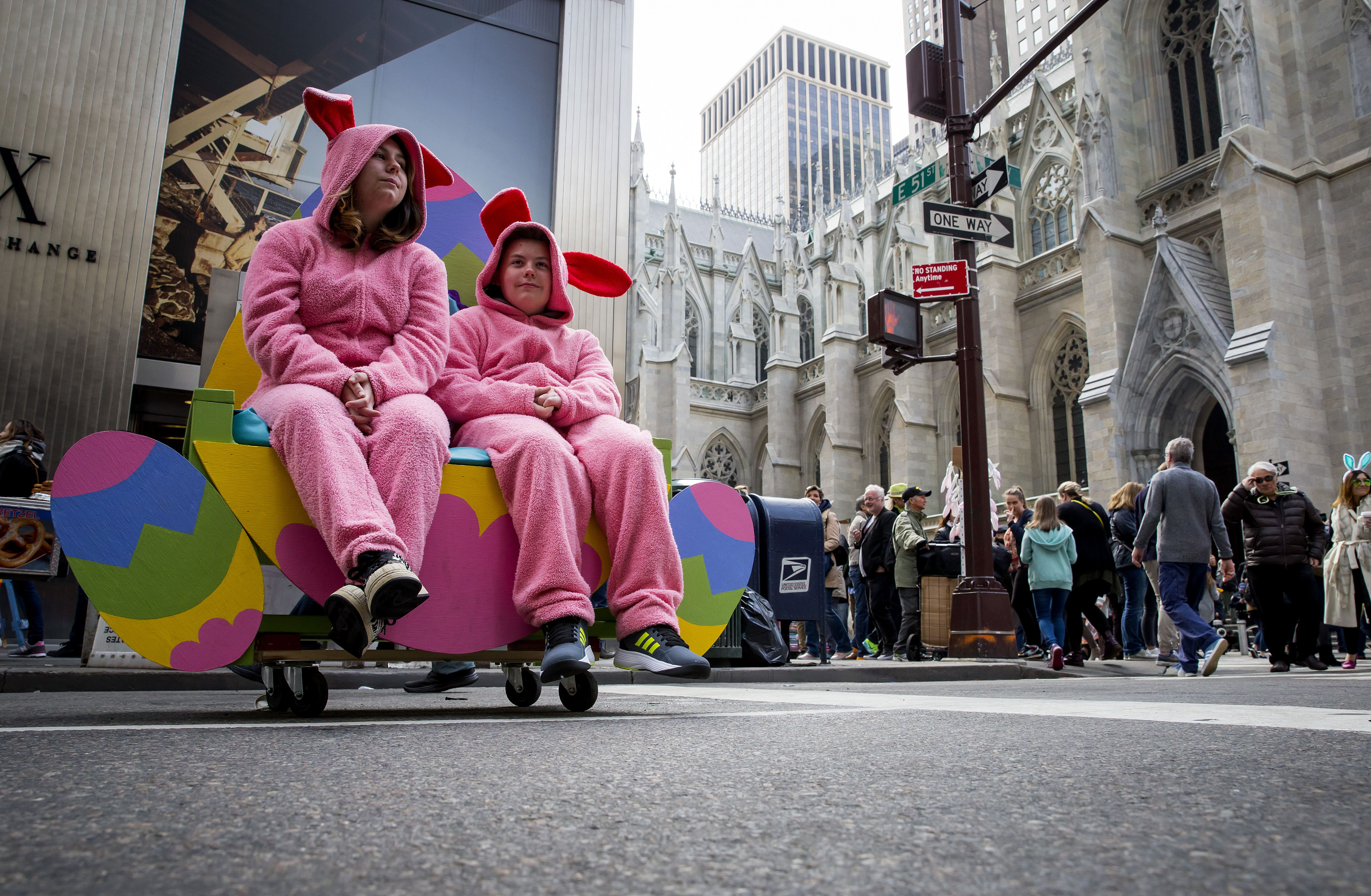 New York Holds Annual Easter Day Parade On 5th Avenue